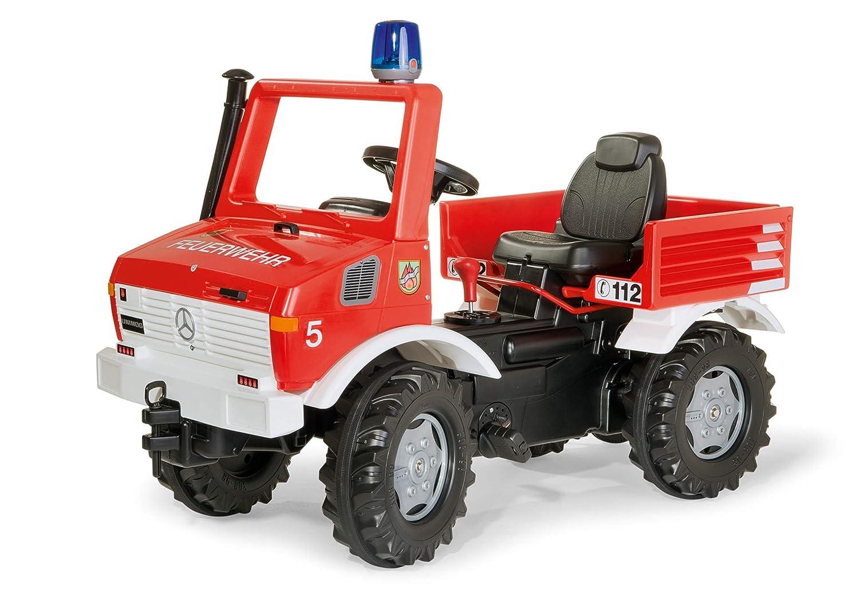 Rolly - Vehículo Unimog de bomberos con luz y sonido, 110 cm, multicolor (70566): Amazon.es: Juguetes y juegos