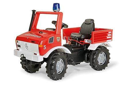 Rolly - Vehículo Unimog de bomberos con luz y sonido, 110 cm, multicolor (