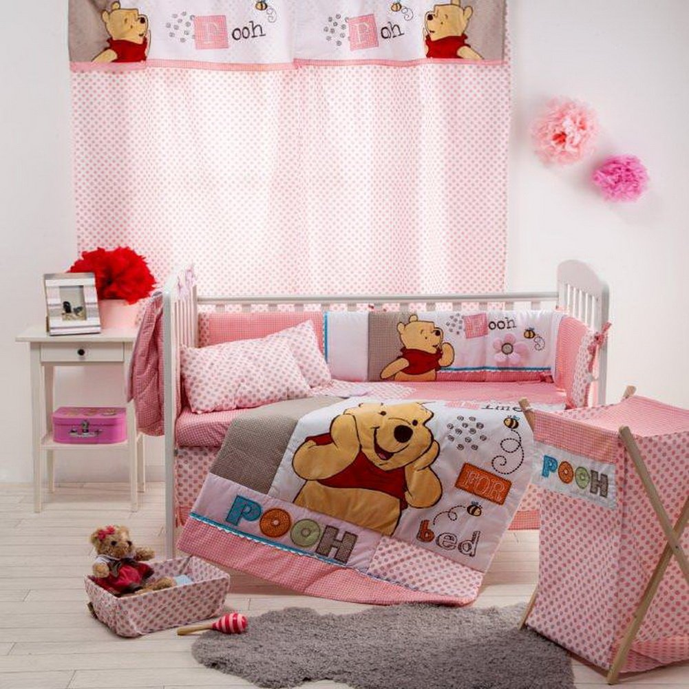 [Disney Pooh Sleep Time] 4 Pc Crib Bedding Set (Bumper) Onitiva