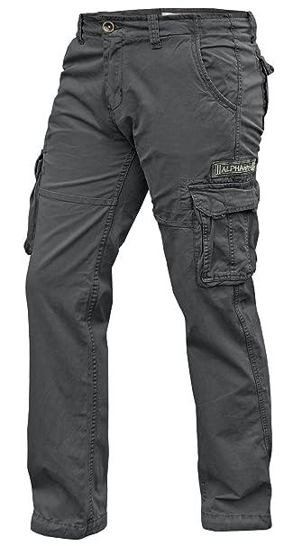 a3810fa690 Alpha Industries - Pantalón - Cargo - Básico - para Hombre Greyblack 31