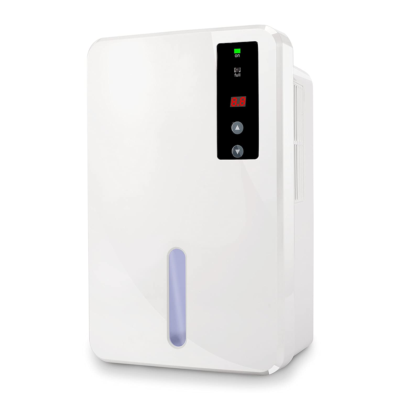 MANZOKU Dehumidifier 1500ml Portable Electric Air Dehumidifiers with LED Display, Quiet and Compact for Damp, Mould, Moisture, Humidity Removal in Home, Wardrobe, Bathroom, Car, Office, Garage, RV