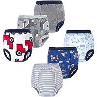 BIG ELEPHANT Baby Boys' Toddler Potty 6 Pack Padded Soft Pure Cotton Pee Training Pants Waterproof Underwear