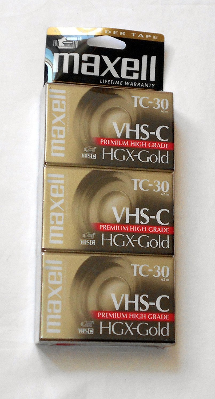 Maxell Vhs-C TC-30 HGX-Gold Camcorder Videocassette (3pk) B005IDV3JQ