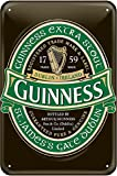 Guinness Metal Sign with Iconic Ireland Label – Large
