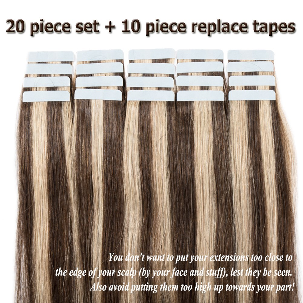Amazon Seamless Remy Tape In Hair Extensions Real Human Hair