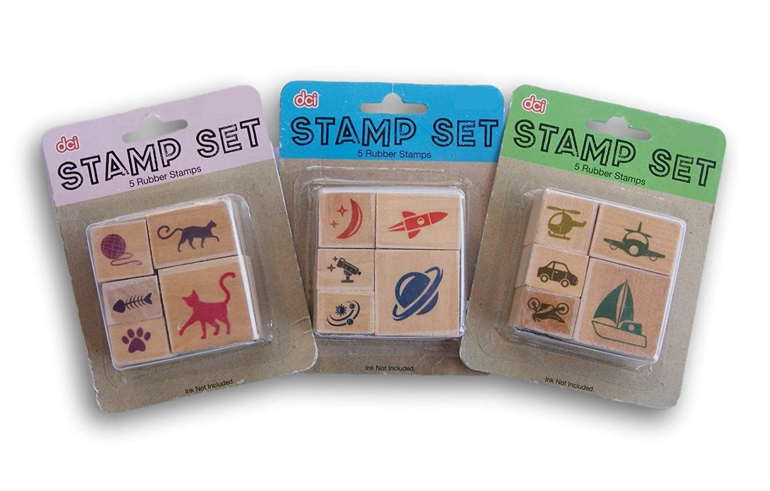 Rubber Stamp Set - Cats, Space, and Vehicles DCI Gift