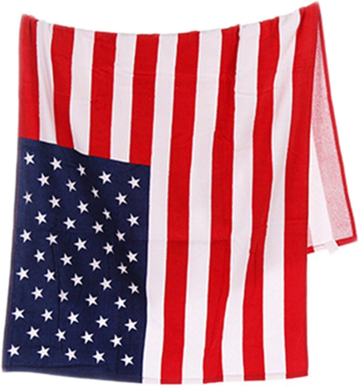 Toalla para playa o baño con diseño de la bandera de Estados Unidos, se puede lavar a máquina, muy absorbente: Amazon.es: Hogar