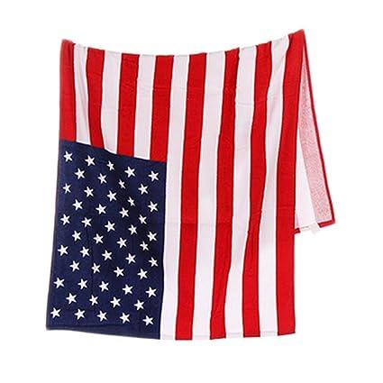 Toalla para playa o baño con diseño de la bandera de Estados