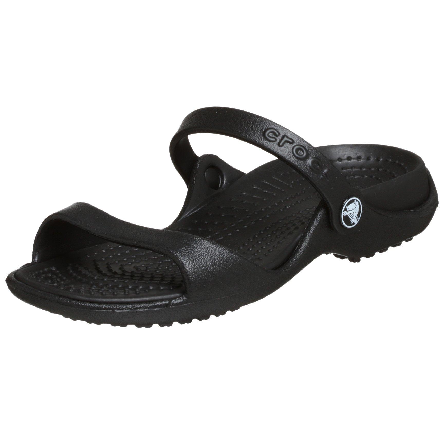 Crocs Women's Cleo Black/Black Croslite Sandals - 8 B(M) US by Crocs