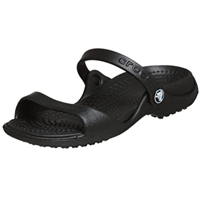 072d7f786ec5 Crocs Women s Cleo Black Black Croslite Sandals - 4 B(M) US