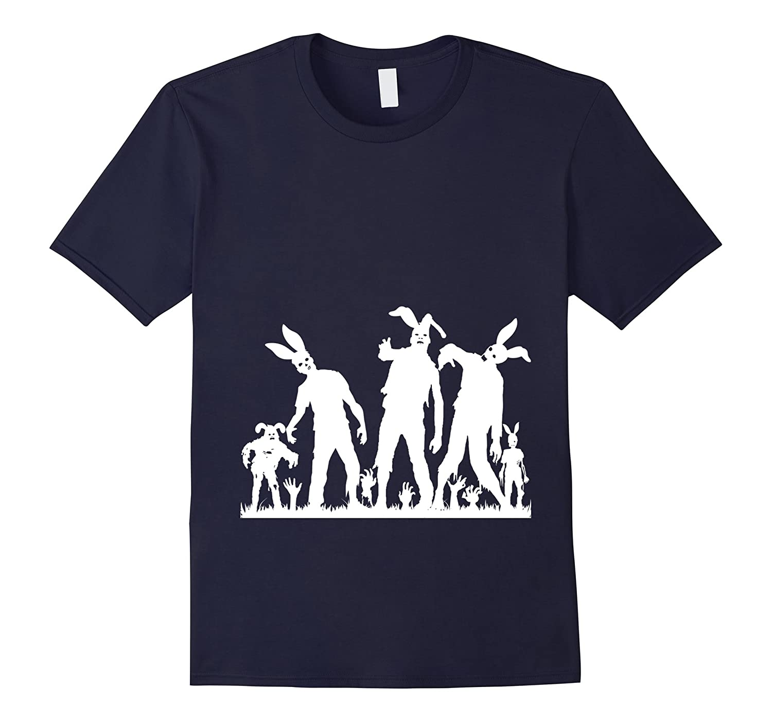The Walking Easter Bunny Zombie Funny T-Shirt-TH