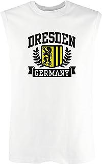 T-Shirtshock Canottiera Uomo Bianco DEC0385 Dresden Germany