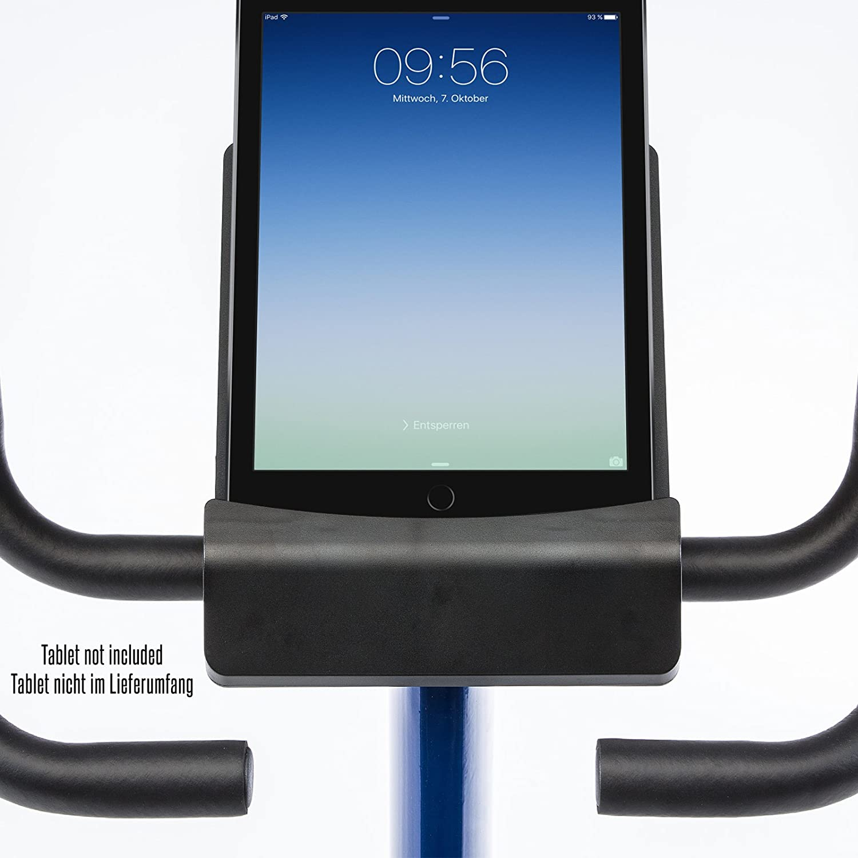 skandika Ergometer Morpheus, Fitness Bike, estática con Bluetooth, Ajuste de cinturón de pulsómetro, 32 Obstrucción Ajustable y Ordenador ...