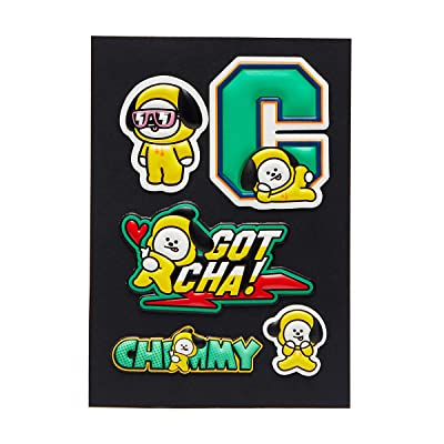 BT21 Official Merchandise by Line Friends - CHIMMY Character 5 Piece Decal Stickers: Computers & Accessories