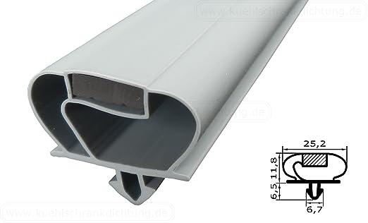 Kühlschrankdichtung : Magnetdichtung profil groß s 2500mm inkl. magnetband farbe: grau
