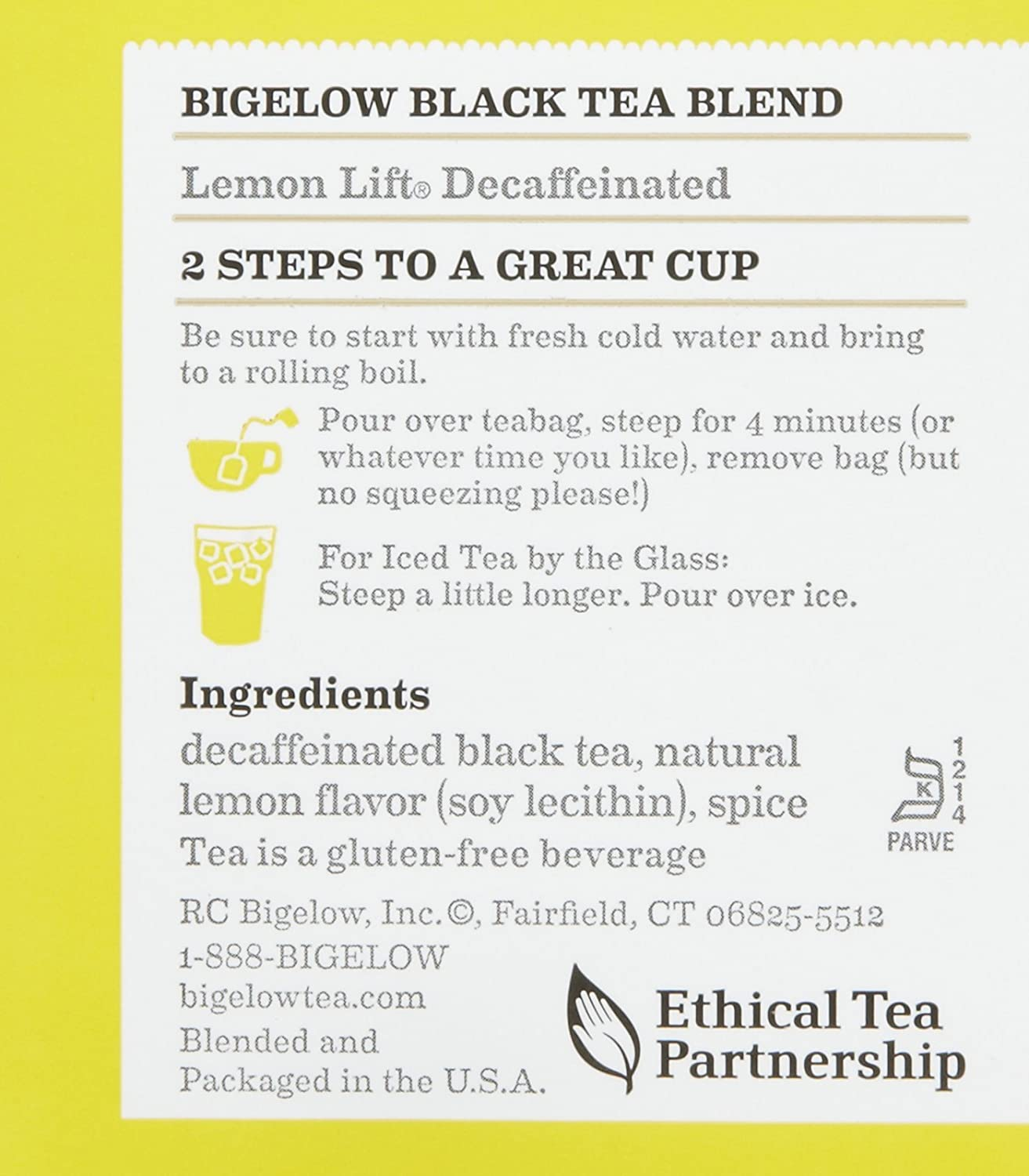 Bigelow Lemon Lift Decaffeinated Black Tea 20 ea