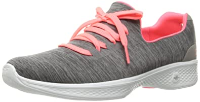 Womens Go Walk 4-A.d.c Low-Top Sneakers, Grey, US Skechers
