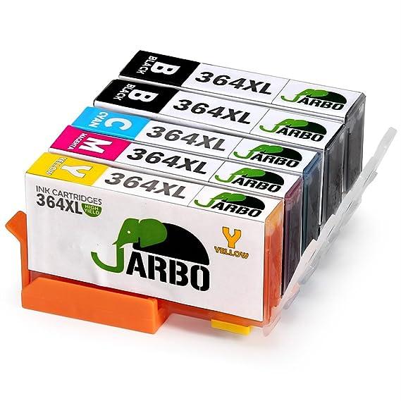 JARBO Ersetzt für HP 364XL 364 Druckerpatronen (2Schwarz, Blau, Rot, Gelb) für HP Photosmart 6520 5510 7510 7520 5524 6510 55