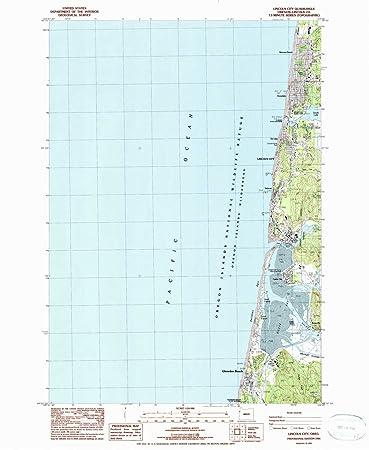 Amazon Com Yellowmaps Lincoln City Or Topo Map 1 24000 Scale 7 5