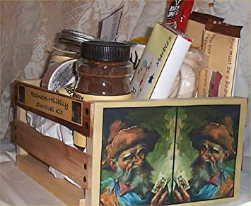 Gift Basket Hillbilly Wood Crate Mens Redneck Gifts Chocolate Coffee Mug  Candy