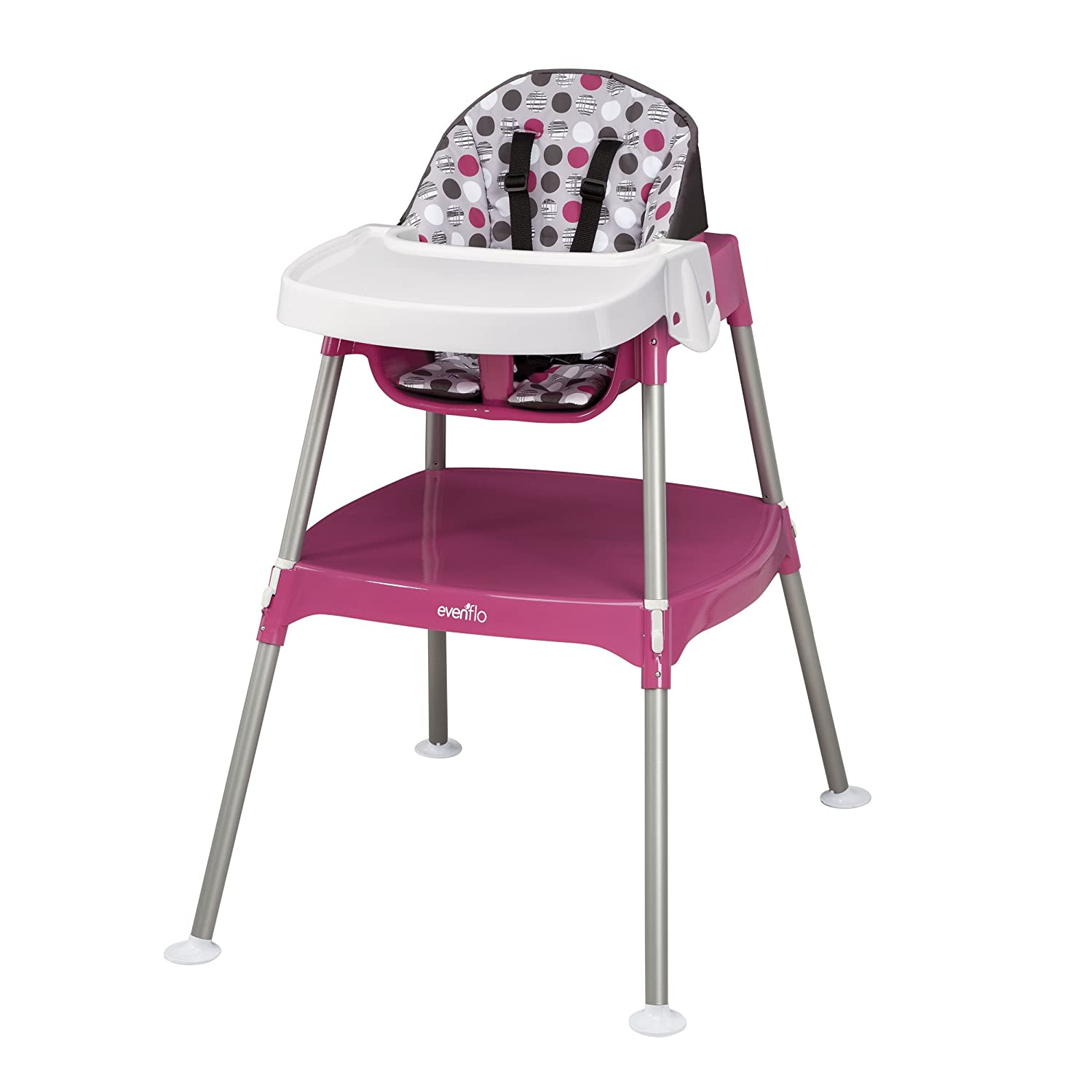Evenflo Convertible High Chair, Dottie Rose, 11.6-Pounds 28111271