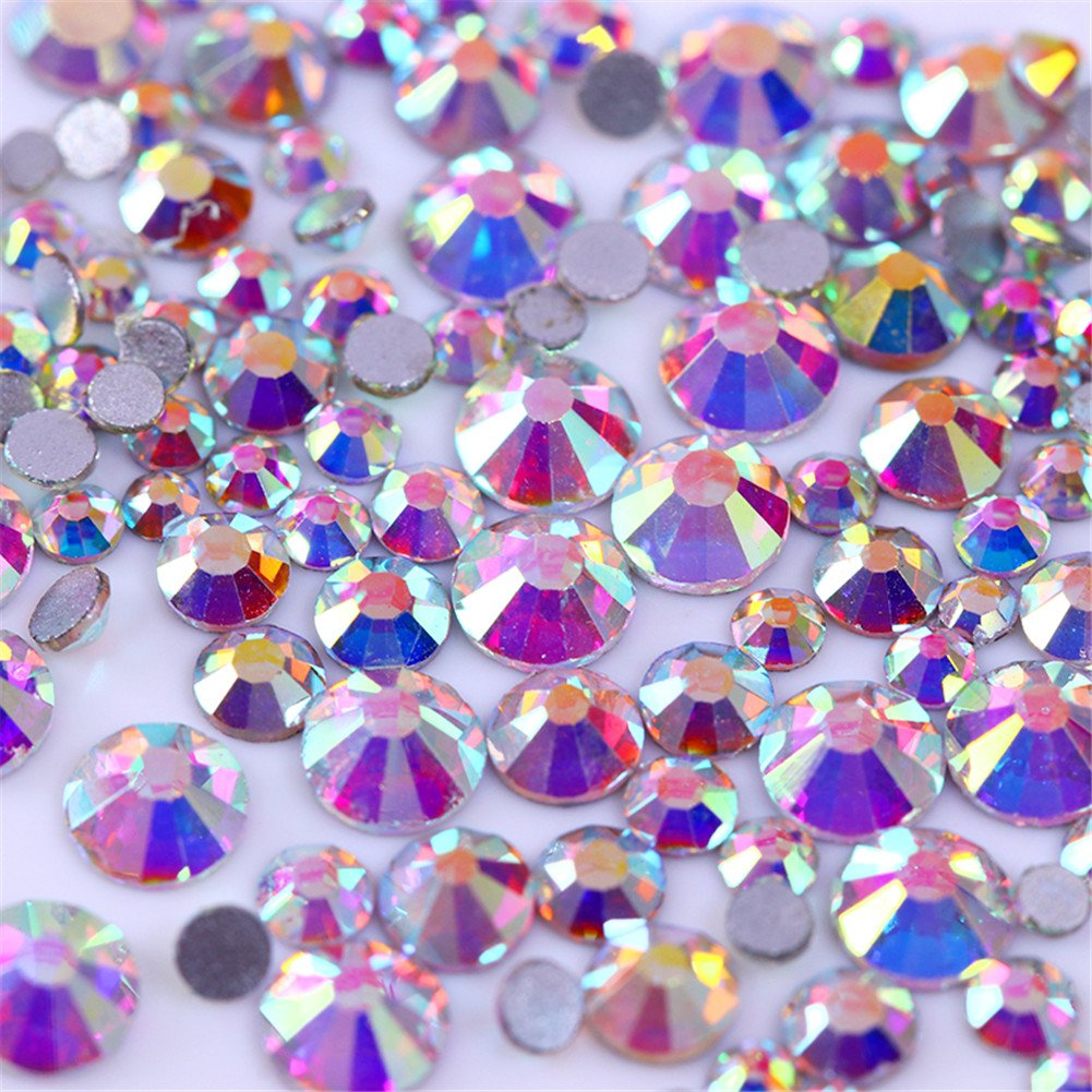 BORN PRETTY 300Pcs Nail Art Chameleon Rhinestone Opal Flame Crystal Flat Bottom Shiny Multi-size Colorful Manicure 3D Decoration #2