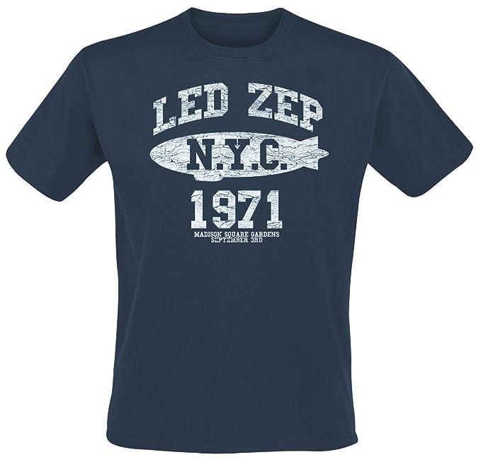 Led Zeppelin NYC 1971 Camiseta Azul xqOt2
