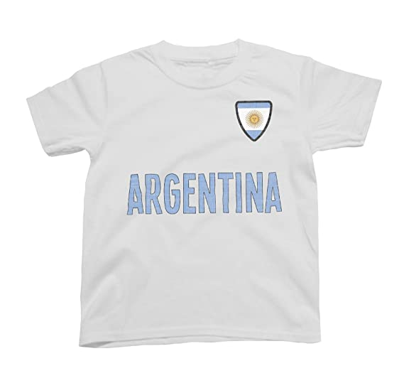 Niños O Niñas Argentina Country Name and Badge Camiseta Fútbol Copa Mundial 2018 Kids Sports: Amazon.es: Ropa y accesorios