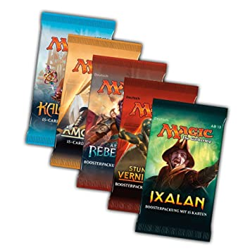 10x Booster Pack Magic the Gathering MTG Rivalen von Ixalan 100 BCW Sleeves