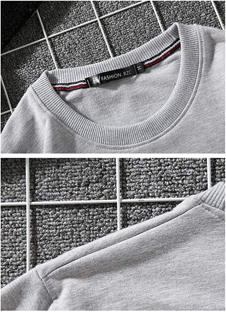 acelyn Mens /& Womens Casual Crew Neck Sweatshirts Classic Round Sports Solid Color Sweater for Boys and Girls S-3XL