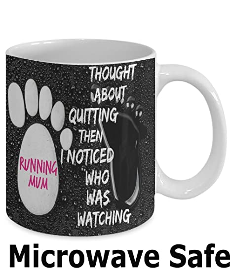BEST FUNNY GIFTS Runners Ceramic Mug With Inspirational Running Quote QuotThought About