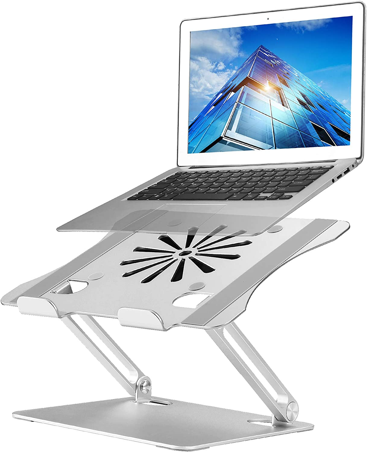 Upgraded Adjustable Laptop Stand with Cooling Fan, Ergonomic Multi-Angle Computer Laptop Stand, Portable Laptop Holder Compatible with MacBook, Air, Pro, Dell XPS, Alienware All Laptops 11-17.3""