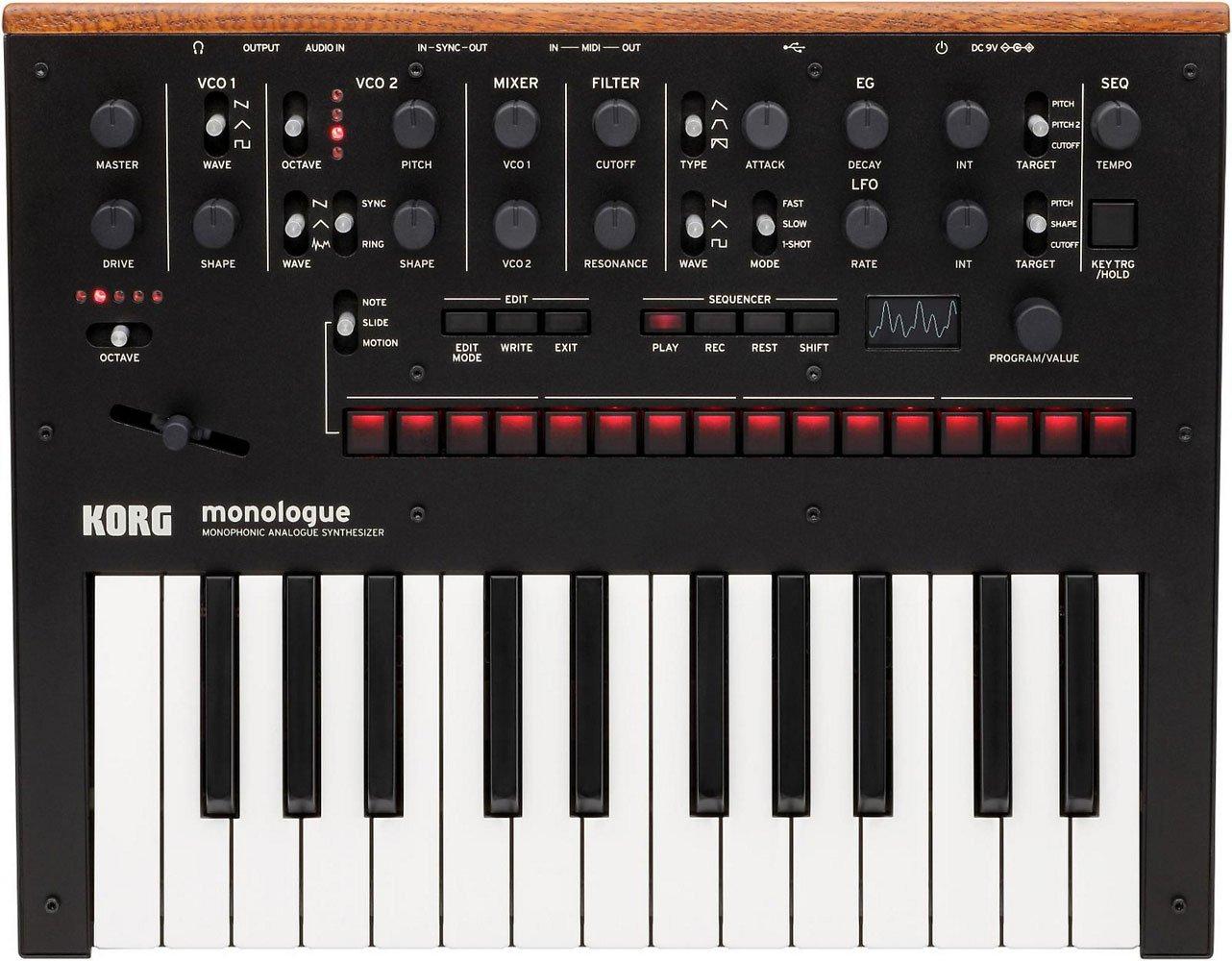 KORG Monologue 25-Key Compact Monophonic Analog Synthesizer - Black by Korg