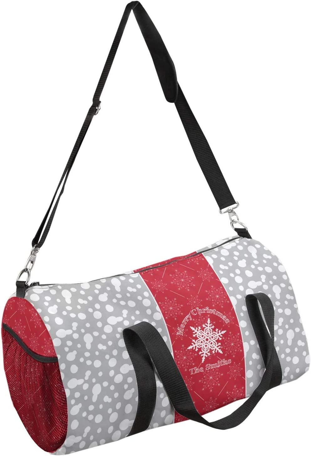 YouCustomizeIt Snowflakes Duffel Bag Personalized