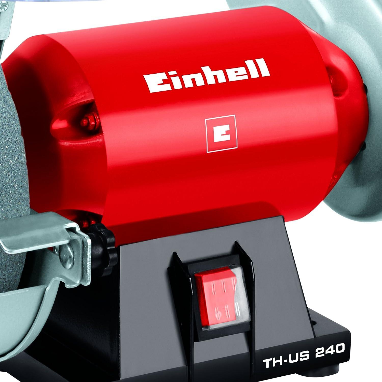 Einhell Stand-Bandschleifer TH-US 240 240 W, inkl. Grobschleifscheibe und Schleifband, Scheibendurchmesser 150 mm, Schleifband 50x686 mm