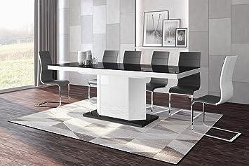 Amazonde Hu Design Esstisch He 333 Hochglanz Stauraum 160208