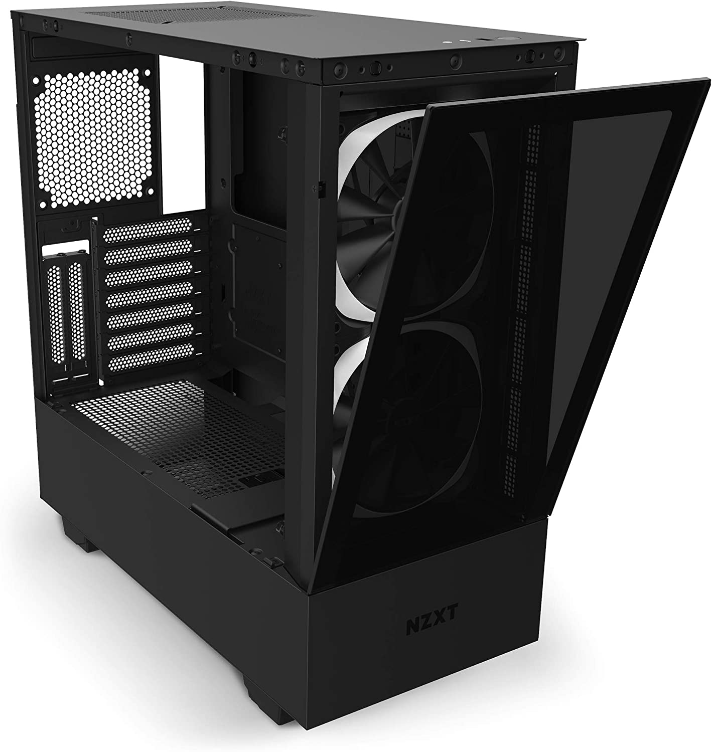 Amazon Com Nzxt H510 Elite Premium Mid Tower Atx Case Pc Gaming Case Dual Tempered Glass Panel Front I O Usb Type C Port Vertical Gpu Mount Integrated Rgb Lighting Water Cooling