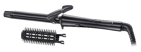 Remington Ceramic Tong CI1019 Rizador de pelo, Pinza de 19 mm, Cerámica, Accesorio Cepillo, Punta Fría, Negro