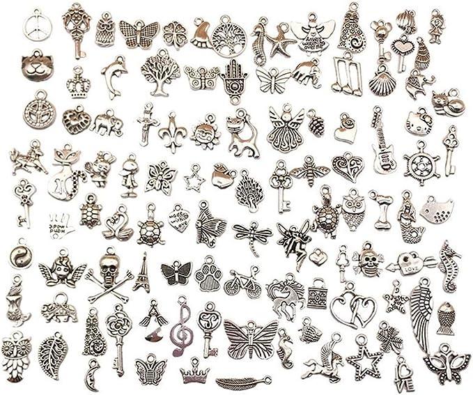 Premium tibetano encanto colgante de 6 Piezas De Bronce Antigua De La Eternidad fabricación de joyas CC2