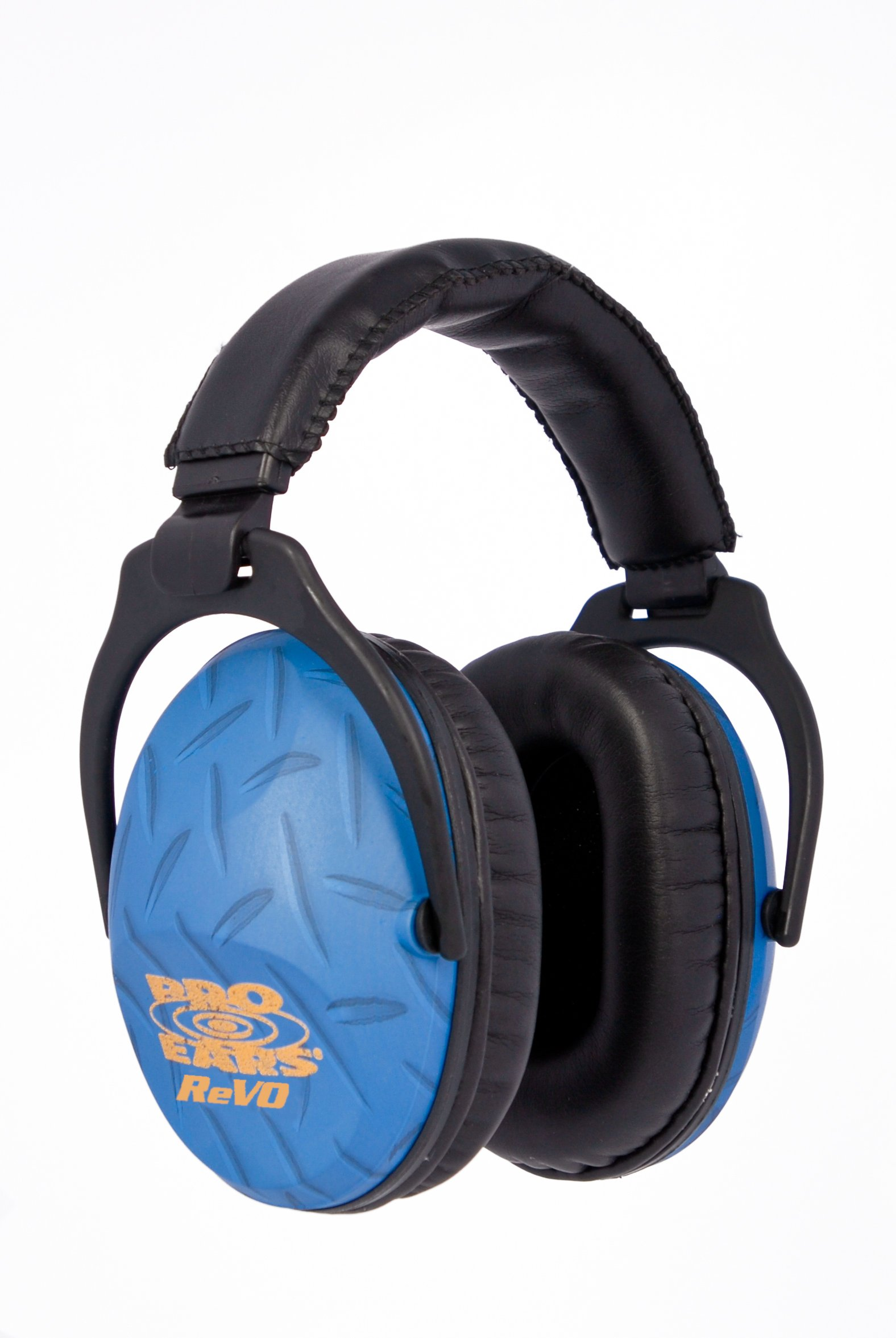 Pro Ears - ReVO - Hearing Protection - NRR 25 - Youth and Women Ear Muffs - Blue Diamond Plate by Pro Ears (Image #2)