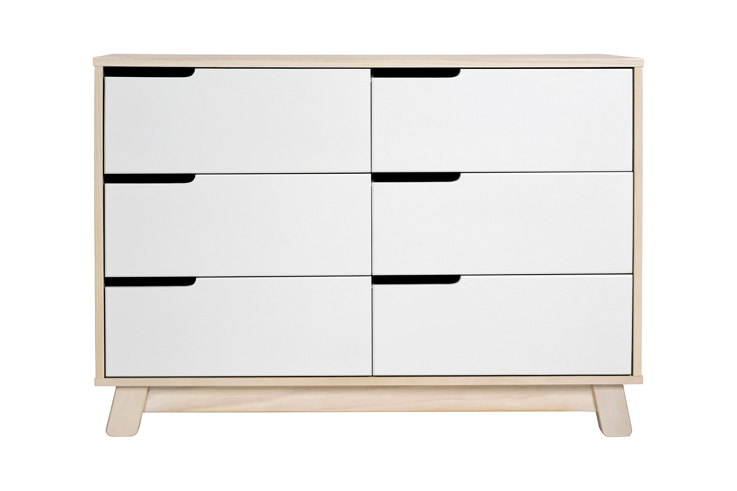 Babyletto Hudson 6-Drawer Assembled Double Dresser, Washed Natural / White by babyletto (Image #2)