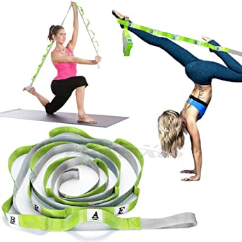 Gymnastic Training Stretching Strap Improve Leg Stretching Foot Stretcher Band Perfect Home Equipment for Ballet Dance Door Flexibility Trainer Taekwondo Exercise XEMZ Leg Stretch Band