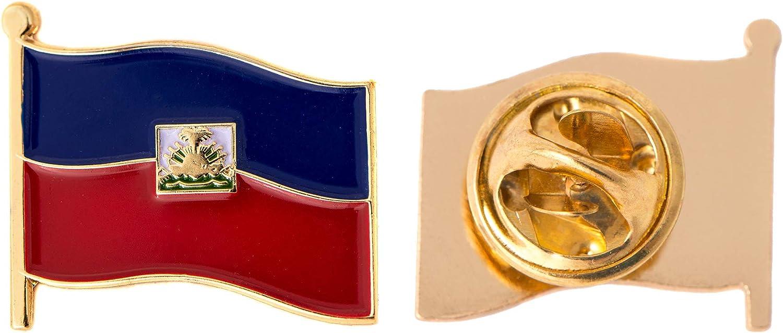 HAITI Country Flag Metal lapel PIN BADGE ..NEW