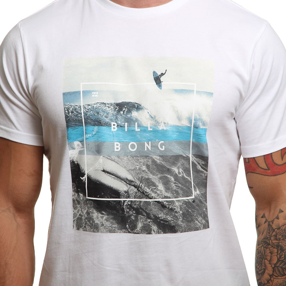 White Billabong Mens Chill T-Shirt