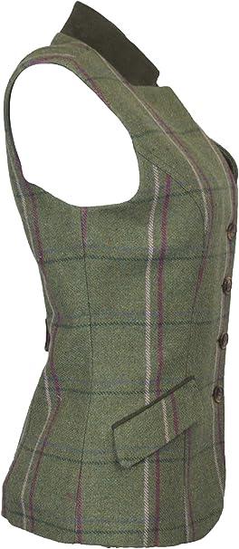 Back Belt Ladies Tweed Margate Waistcoat Vest Walker /& Hawkes