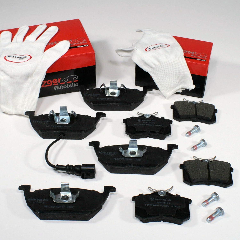 Autoparts-Online Set 60015073 Metzger Bremsbel/äge 1ZF 1KD Bremskl/ötze Bremsen f/ür vorne hinten