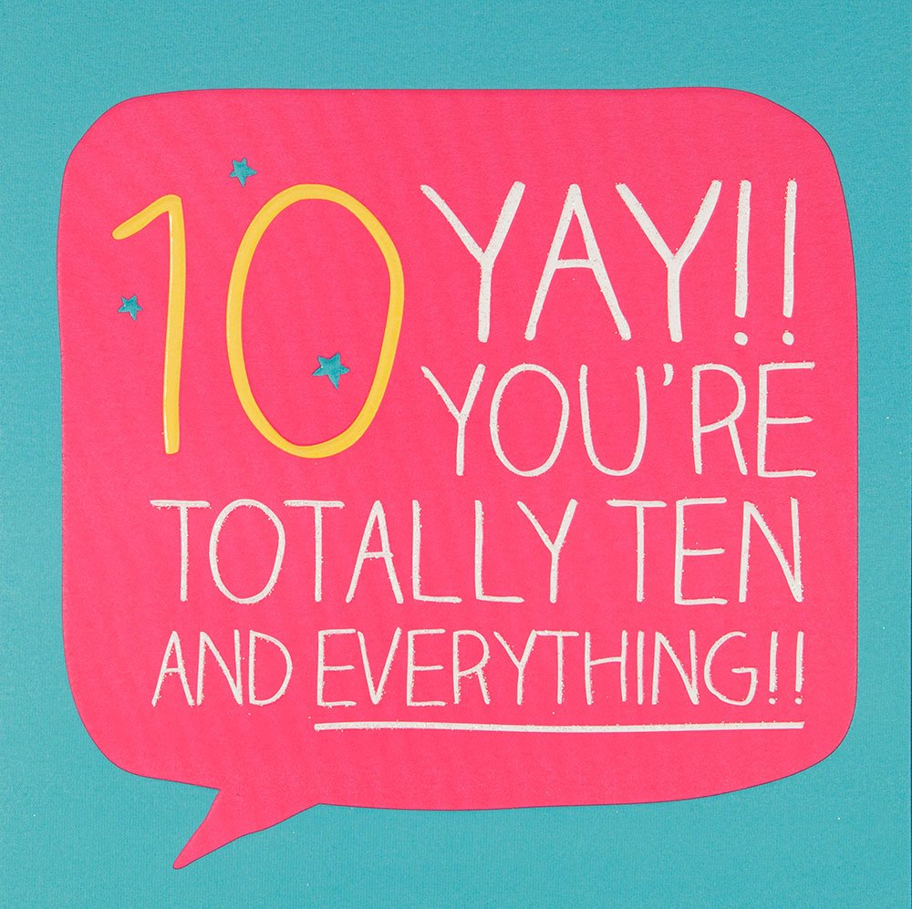 Totally ten and everything girls 10th birthday card by happy girls 10th birthday card by happy jackson amazon office products bookmarktalkfo Gallery