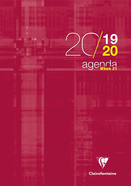 1 Agenda scolaire'When 21' - 21x29,7-2019/2020 - Rouge - 21 x 29,7 cm