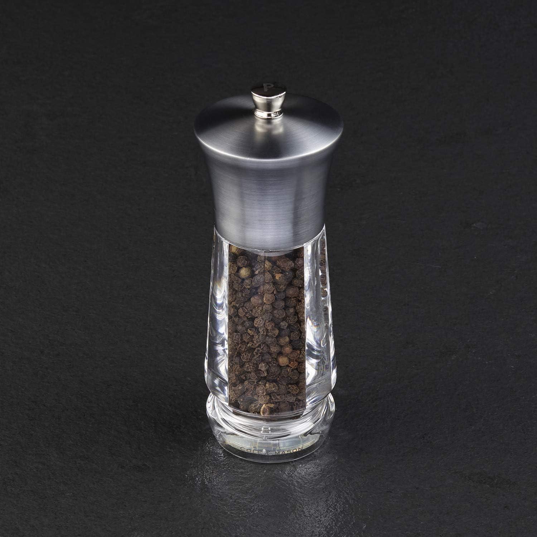 165 mm acrylique et inox Cole /& Mason CH321913 Coffret de moulins sel et poivre Exford