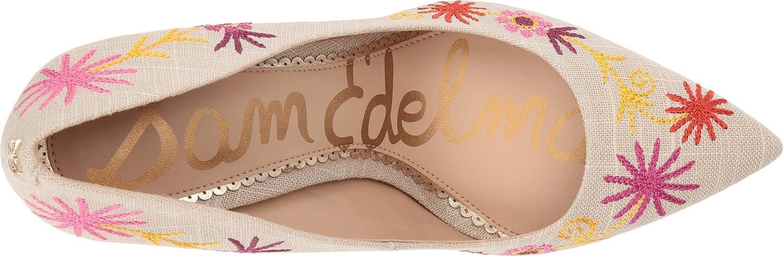 Sam Edelman Womens Hazel 4 B076JL6RRR 11 B(M) US Natural/Yellow Multi Embroidery Kid Suede Leather